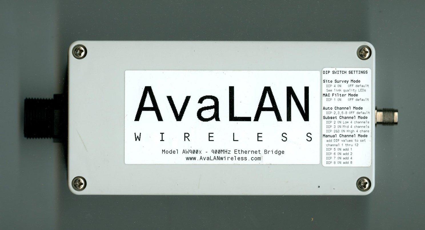 AvaLAN AW900X 900Mhz Wireless IP Ethernet Bridge Arizona Phoenix