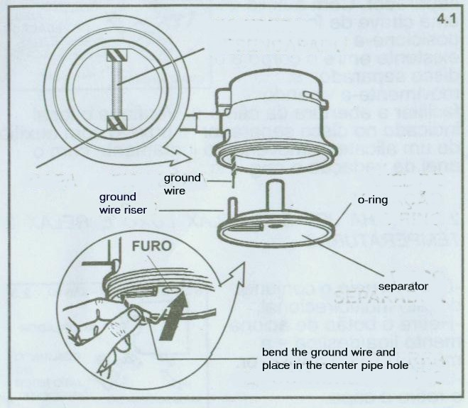 9 screw the spreader back onto the body of the showerhead being careful to place the oring gasket where it belongs